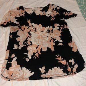 Calvin Klein flower blouse Sz. L
